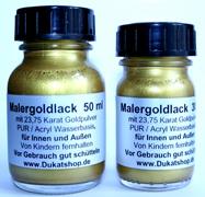 Malergoldlack mit Feingold