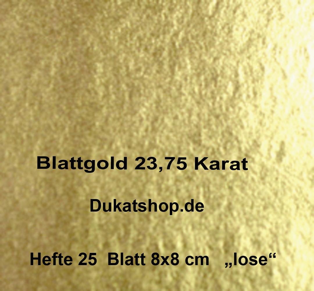 23,75 Karat Blattgold, Format 8x8 cm, 12 Gr., Best Choice ,lose