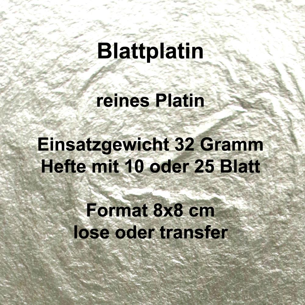 Blattplatin, Hefte 32 Gramm Einsatzgewicht