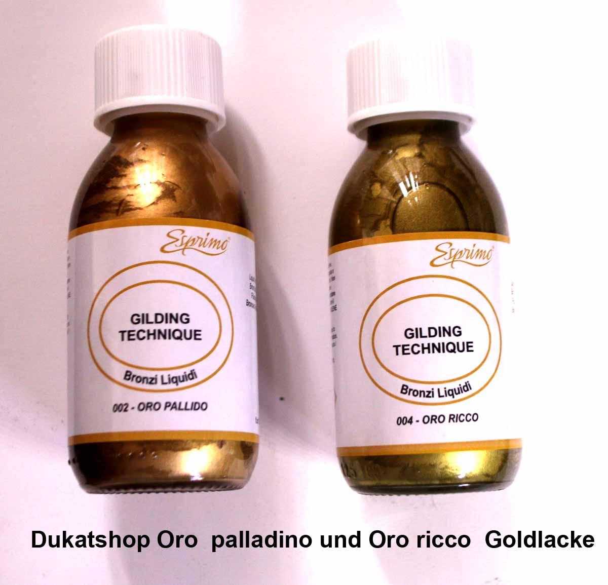 Gold-Kunstharzlacke von Ferrario