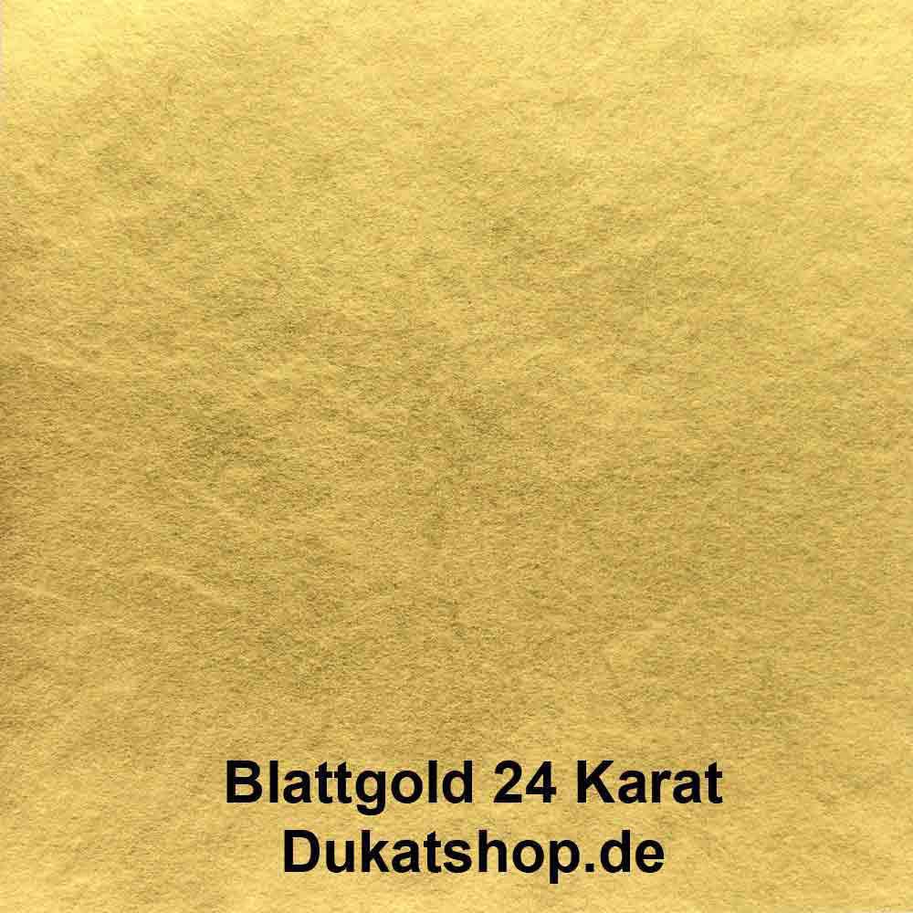 Heft 24 Karat Blattgold, Doppelgold 14 Gr. mit Zwischenpapier