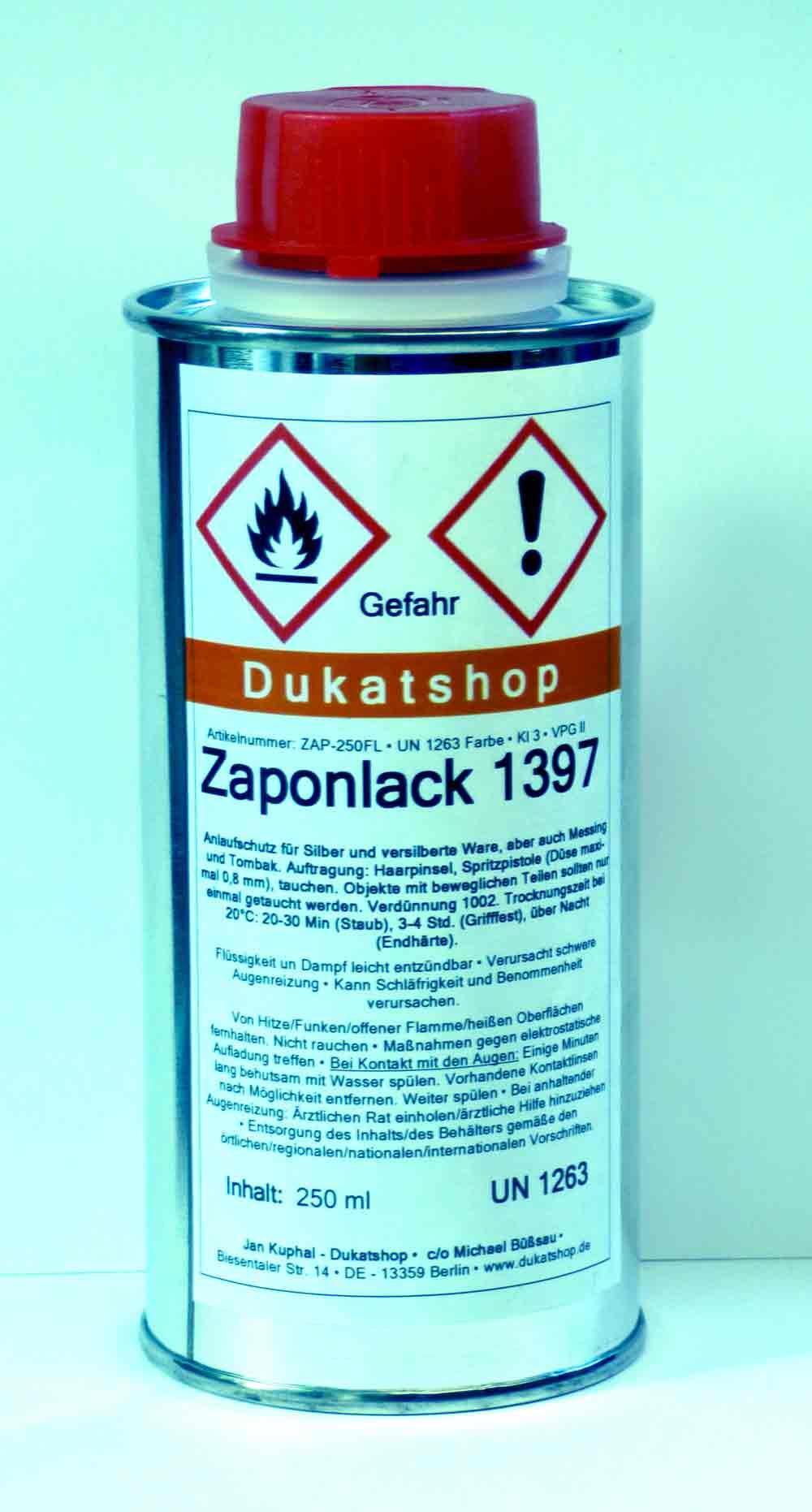 Zaponlack ( flüssig ) 250 ml Flasche