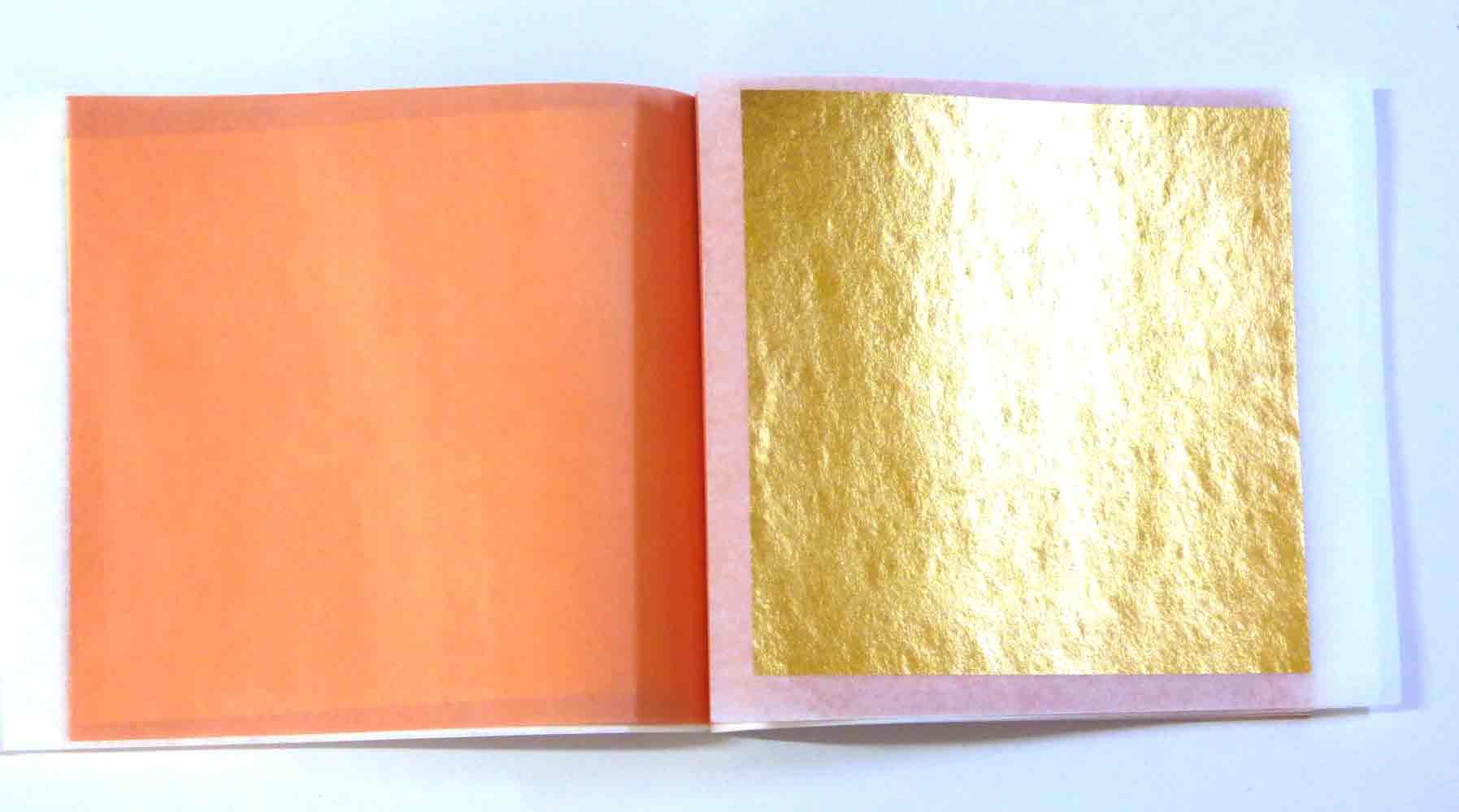 1 Heft 24 Karat Blattgold  BC auf Transferpapier