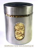 Goldflocken 5 Gr., 23 Karat, im Glas