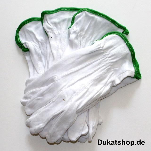 Baumwollhandschuhe, 6 Paar  Top-Qualität  Gr. 9