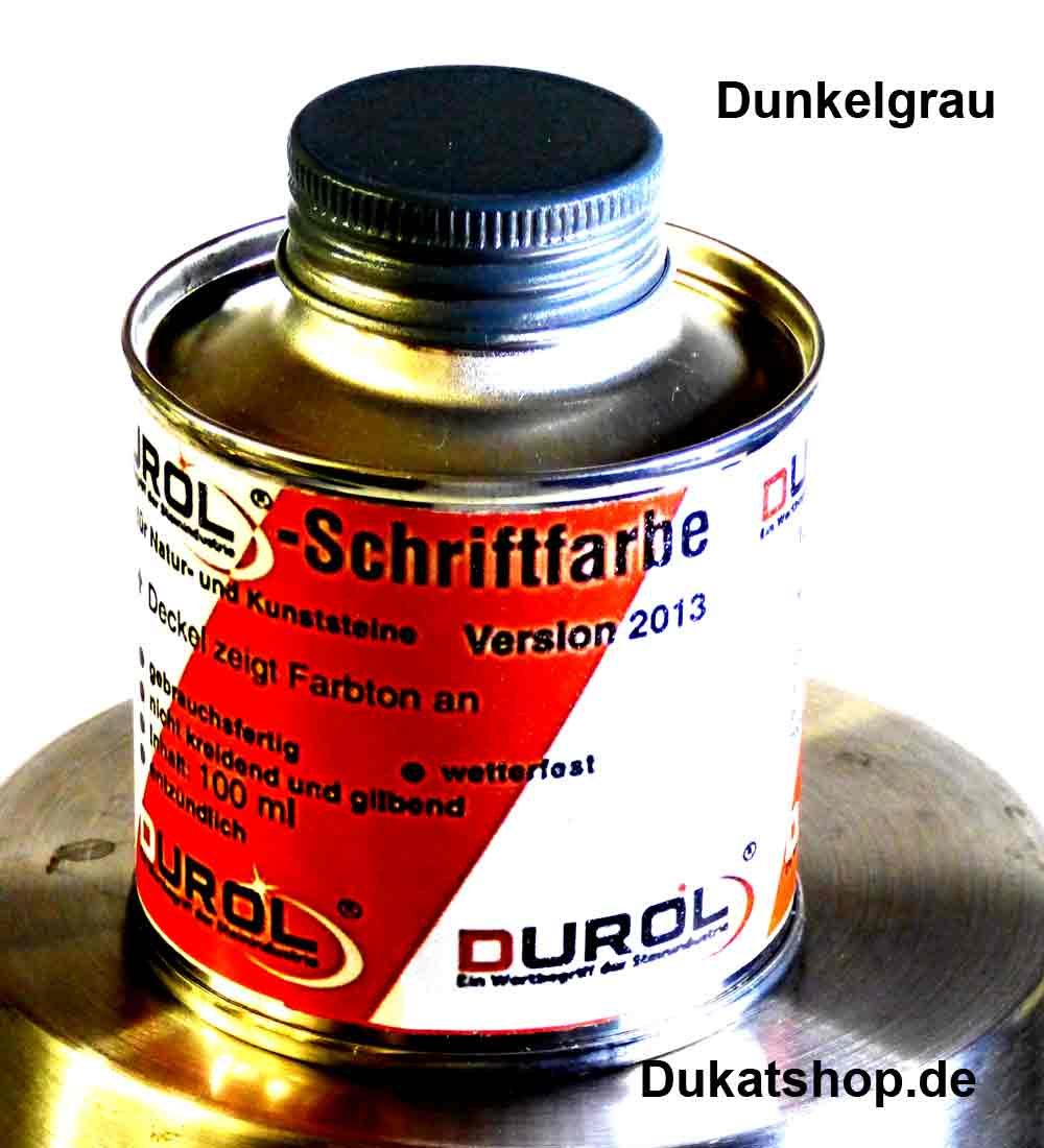 Durol Schriftfarbe dunkelgrau, 100 ml