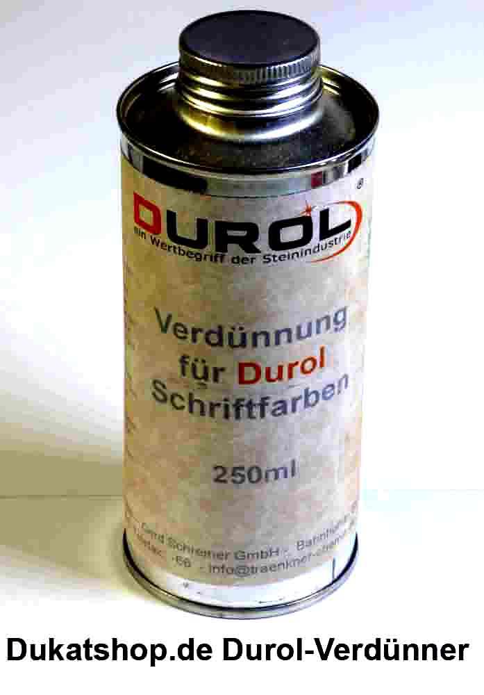 Durol VERDÜNNER für Schriftfarbe  250 ml