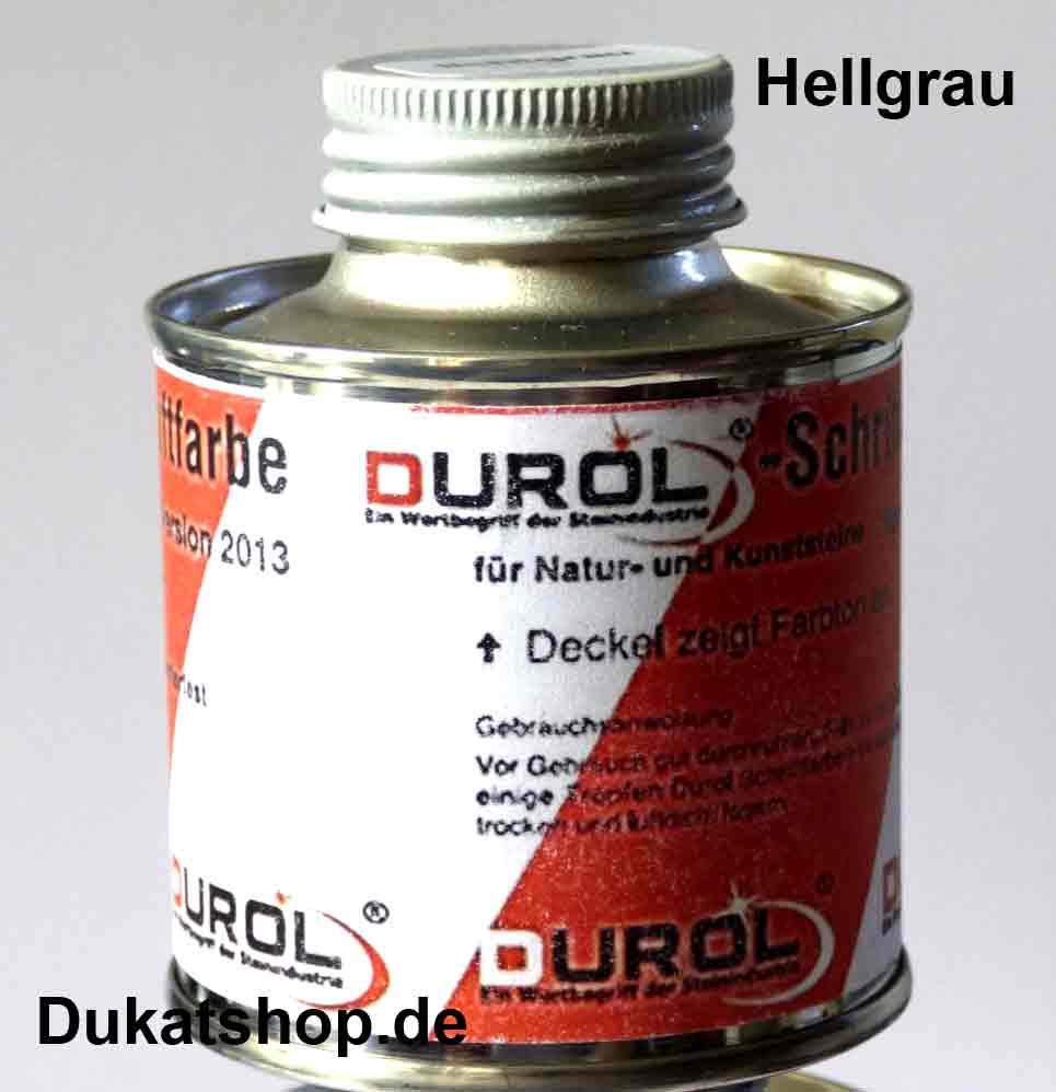 Durol Schriftfarbe hellgrau, 100 ml
