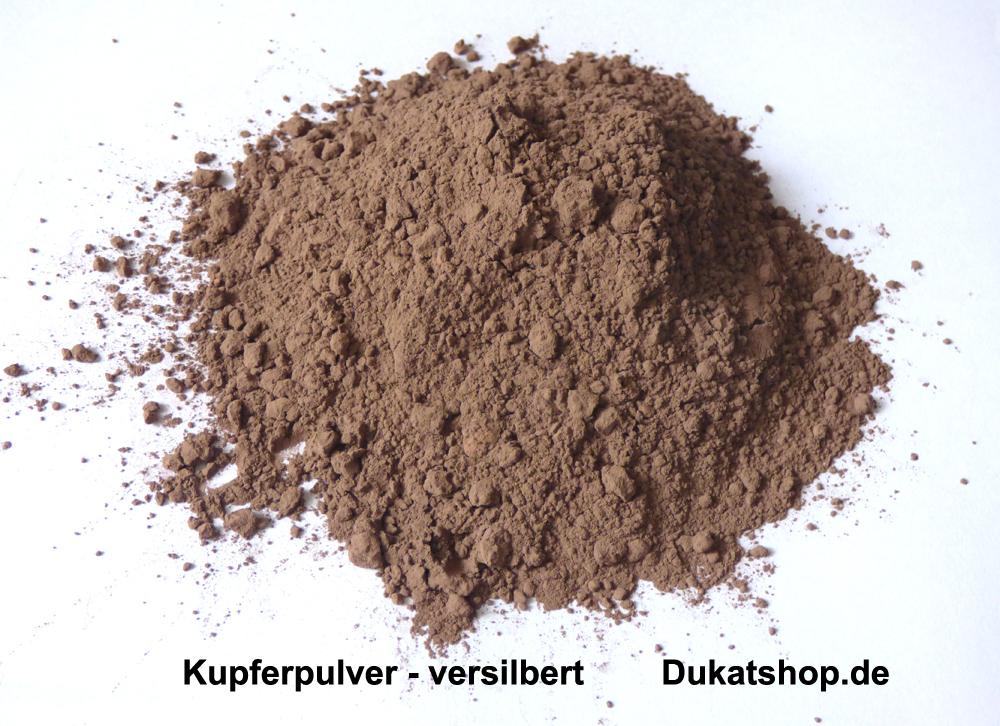100 Gramm Kupferpulver, versilbert