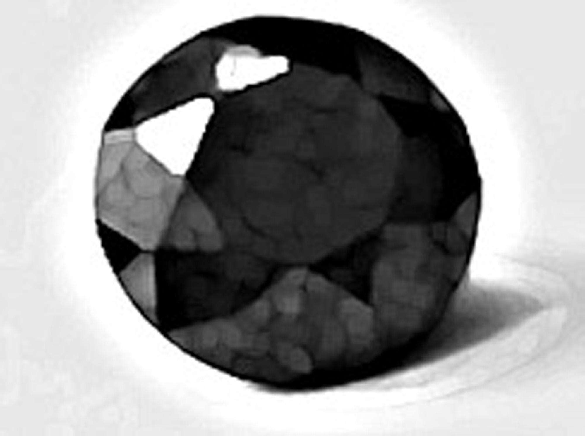 1,25 Karat, schwarzer Diamant (Brilliant)  runder  Brillantschliff, IGI,