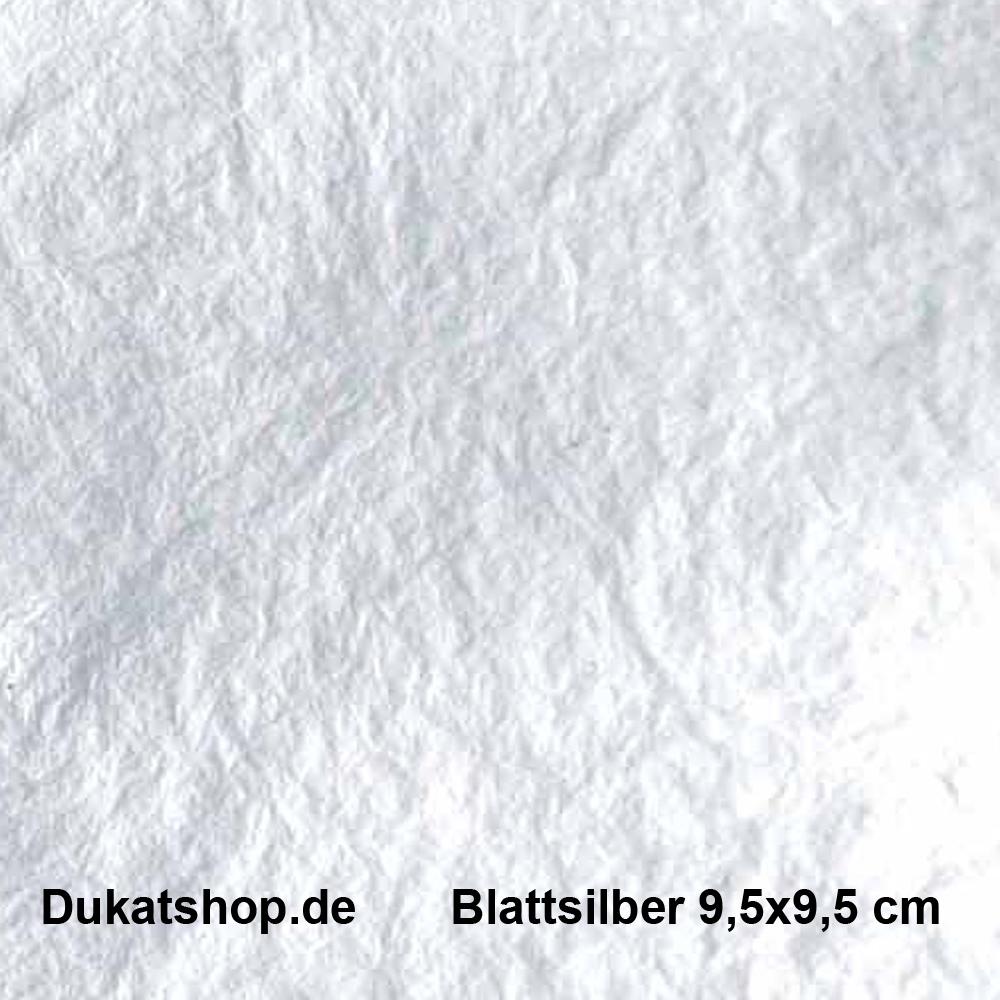 Blattsilber, lose, Format 9,5x9,5 cm /Heft  25 Blatt